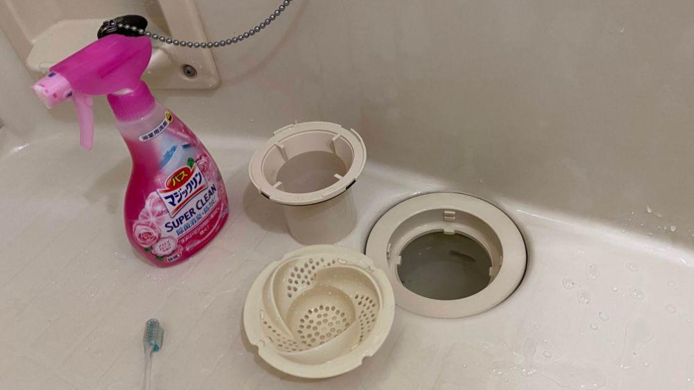 風呂排水口清掃