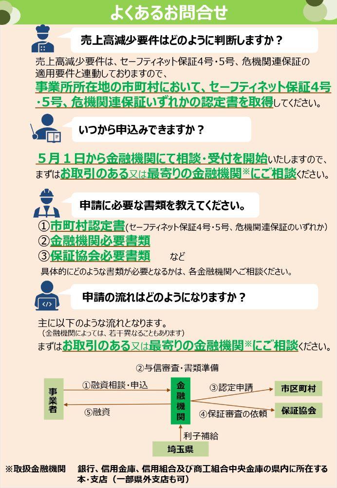 埼玉県新型コロナウイルス対策資金リーフレット裏