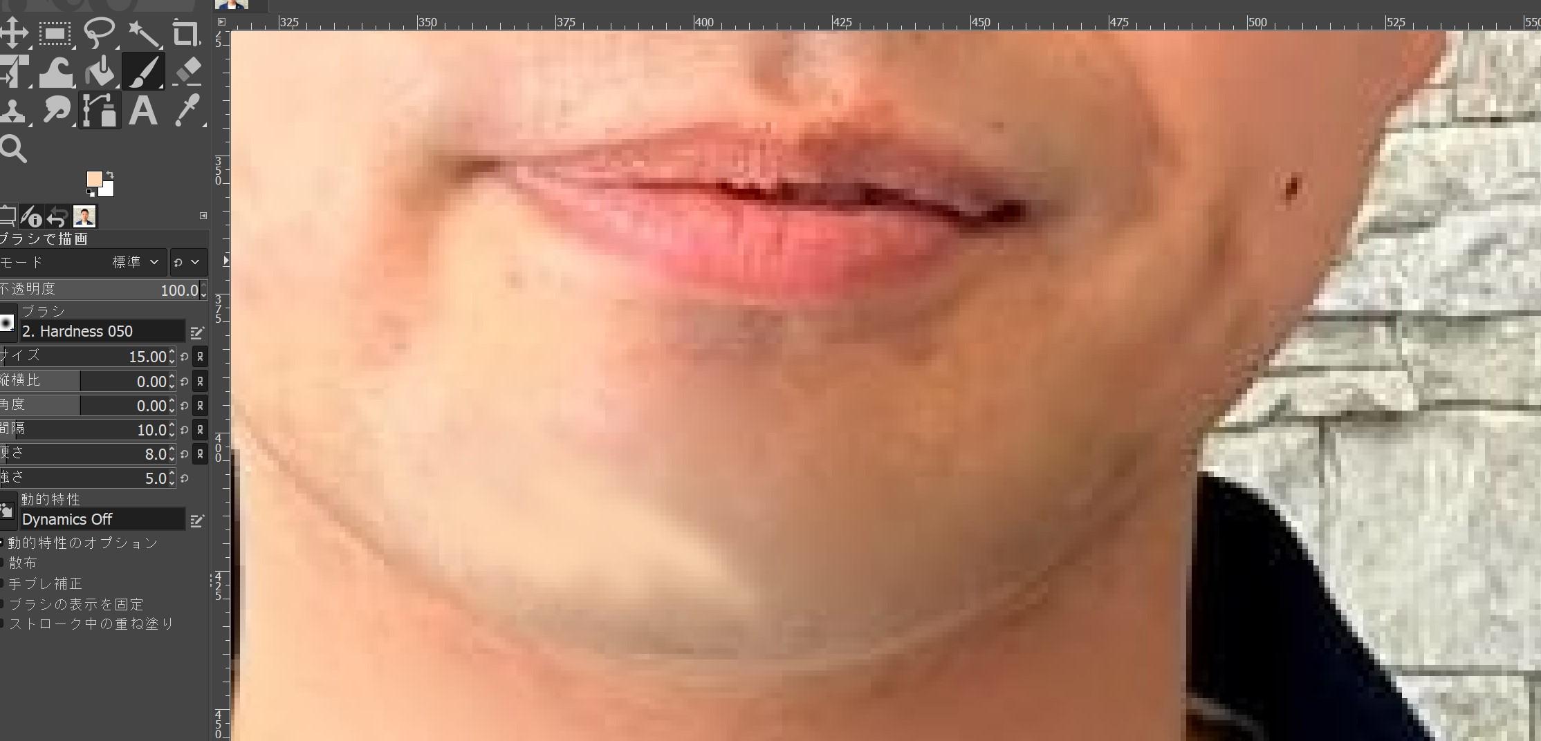 GIMPで青ひげを削除