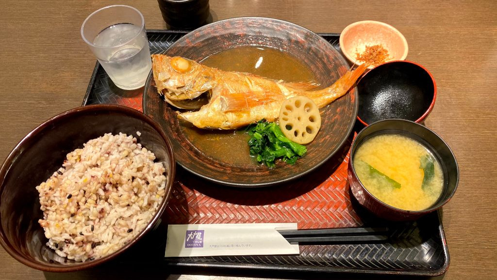 大戸屋メヌケの煮つけ定食